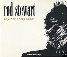 "ROD STEWART - Rhythm Of My Heart - Deleted 1991 UK 7"""