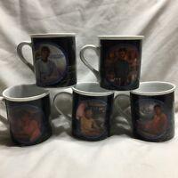 Star Trek Mug Collection 1983 Scotty Spock McCoy Sulu Uhura Set Of 5 Vintage