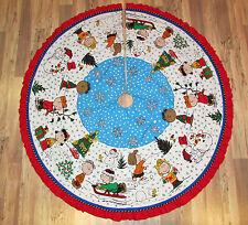 "Snoopy Peanuts Woodstock Charlie Brown Fabric Handmade Christmas Tree Skirt  62"""