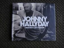 JOHNNY HALLYDAY Mon pays c'est l'amour Collector CD livre 28 pages NEW $