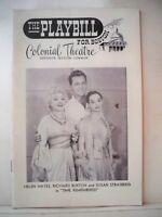TIME REMEMBERED Playbill HELEN HAYES / RICHARD BURTON Tryout BOSTON 1957