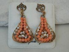 Orecchini pendenti con Corallo e Perline Collezione GATTOPARDO OMA19
