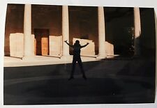 Vintage 90s PHOTO From Abroad Woman Jumping In Circular Stone Open Area Colisuem