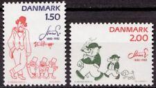 Denmark 1982 Mi 764-765 Robert Storm Petersen; Cartoons MNH