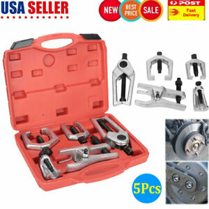 5x Front End Service Tool Ball Joint Tie Rod Set Pitman Arm Puller Remover Kit