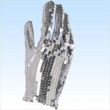 Paillettenhandschuh für Michael Jackson Kostüm Handschuh m. silbernen Pailletten