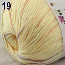 Sale New 1Ball x 50g Cashmere Silk Wool Hand Knit Wrap Shawls Crochet Yarn 19