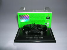 Welly mercedes-benz sl500/sl 500 convertible negro Black, 1:87 h0 nuevo + embalaje original
