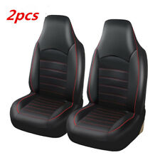 Pair Black Sport Front Car Seat Cover Universal Fit Auto Bucket Seat Protector