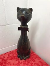 LEATHER COVERED CAT SHAPED BOTTLE MADE IN ITALY Decanter Glass Liquor