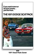 24x36 1971 Dodge Scat Pack Poster Mopar Art Demon 340 383 440 Charger Super Bee