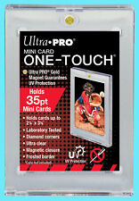 1 Ultra Pro ONE TOUCH MAGNETIC 35PT MINI SIZE UV Card Holder Display Case Sports