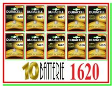 10 DURACELL 1620 Batterie Pile CR CR1620 DL1620 ECR1620 5009LC 280-208 L08 LITIO