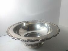 Vintage Oneida Silver plated Serving Bowl  Footed w/ Exquisite  Border