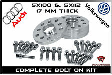 Complete Set Of | 17 MM | Audi/VW Hub Centric Wheel Spacers 5x100 5x112 57.1 H.B