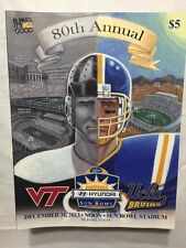 2013 80th Annual Sun Bowl Program - Virginia Tech vs UCLA December 31st, 3013