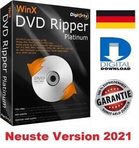 WinX DVD Ripper Platinum 2021  ✔ NEUSTE Version 2021 ✔  WINDOWS ✔ Deutsch ✔