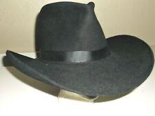 SHARP 4X BEAVER STETSON WESTERN HAT 7 1/4 OLD WEST GUN SLINGER GAMBLER LOOK GUC