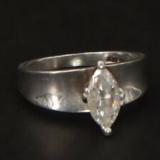 Sterling Silver - CZ Cubic Zirconia Marquise Cocktail Ring Size 7 - 3g