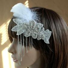 1920s Great GATSBY Inspired Head Piece  STONE & FEATHERS CHARLESTONE Headband