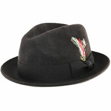 Plegable c-crown 100% Lana Fedora De Fieltro Sombrero Trilby Con Desprendible