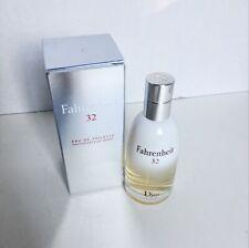Fahrenheit 32 By Christian Dior Cologne Men Eau De Toilette Spray 3.4oz Sealed