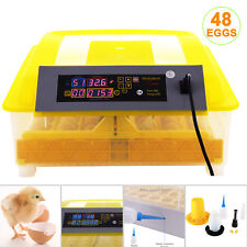 48 Digital Egg Incubator Automatic Hatcher Temperature Control Chicken