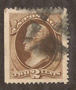 US # 146 (1870) 2c - Used -Grade: XFJ - EFO: Guide ARROW 1/200
