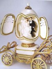 AUTHENTIC GOOSE EGG ~ PICTURE PERFECT LOVE BRIDAL COACH  ~ MUSICAL #30478