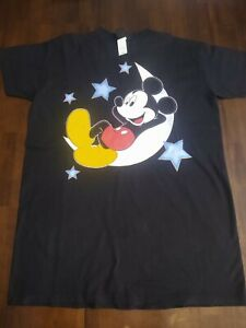 Mickey Mouse Sleep Shirt Vintage Moon Graphic Mickey Unlimited One Size