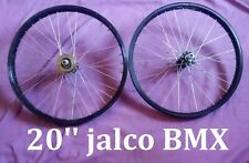 """Jalco 20"""" BMX Bicycle Rims (Front & Rear) DDY - ROUE VINTAGE OLD SCHOOL WHEELS"""