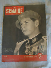 La Semaine - 12 Septembre 1940