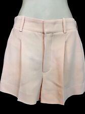 Chloe Shorts Beige Rose Pleated Size 34