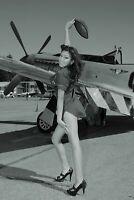 WW2 Famous PinUp P-51 sexy girl War Photo aviation plane airplane 4x6 Z