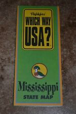 "Highlights Which Way Usa? Mississippi State Map ""Vgc"""