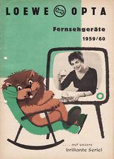 LOEWE OPTA 1959 fernsehgeräte Prospekt mit Preisliste
