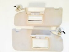 2005-09 Ford Taurus Sun Visor w- lighted mirror driver/passenger beige match set