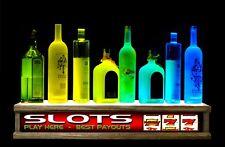 24 Color Led Lighted Liquor Bottle Display Video Slots Poker
