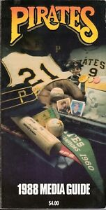 1988 Pittsburgh Pirates Media Guide - Willie Stargell HOF Inductee Barry Bonds