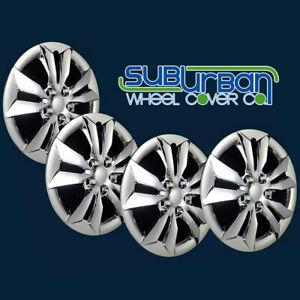 "FITS 2011-2014 Hyundai Sonata GLS # 464-16C Aftermarket 16"" Chrome Hubcaps SET/4"
