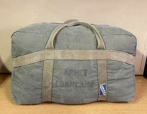 GENUINE RARE FRENCH ARMY 50s / 60s TAP PARATROOPER LARGE KIT BAG COTTON VGC !!!!