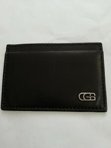 Gucci Black Leather Credit Card Holder Wallet