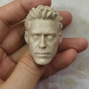 "1/6 scale Custom Blank Head Sculpt Tony Stark/Iron Man MK Fit 12"" figure DIY"