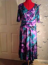 """NEW Vintage look M & S PER UNA floral tea dress, 14 NEW tags. 41""""L, Party, event"""