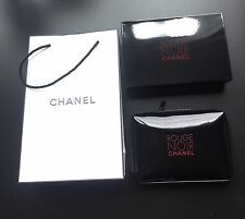 CHANEL ROUGE NOIR CHANEL ~ GLOSSY BLACK ~ SMALL MAKEUP POUCH / BAG ~NEW WITH BOX