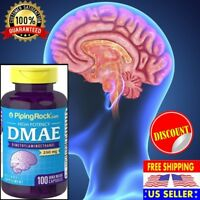#1 Brain Supplement Mental Focus Concentration Memory DMAE 250 mg 100 Capsules
