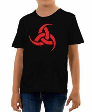 La Norvegia T shirt con design Navi vichinghe circa taglia 6 anni ROSSO