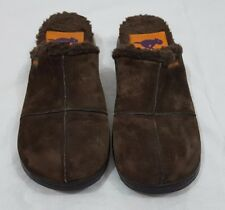 Rocket Dog Womens Size 6 Brown Suede Chunky Clogs Mules Slip On Shoes Lined