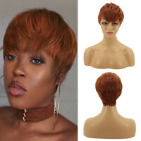 Women Short Curly Brown Wig Synthetic Hair Full Wigs Cosplay Party Costume Wigs