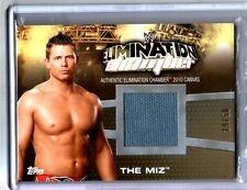 WWE The Miz Elimination Chamber 2010 Topps GOLD Event Used Ring Mat Card SN19/50